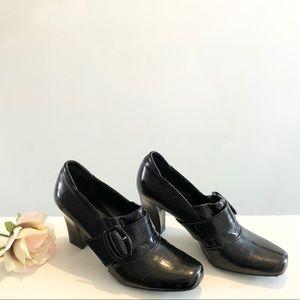 Franco Sarto Black Heel Oxford 6.5 LIKE NEW!